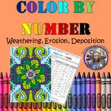 Color By Number- Weathering, Erosion, Deposition