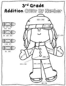 Color By Number {Winter Freebie Grades 2-5}