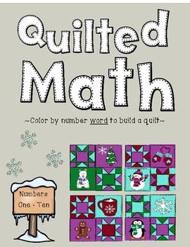 Color By Number Word - Winter Quilt (Numbers 1-10)