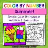 Color By Number Worksheets for Summer