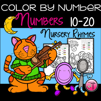 Math on My Mind~Color By Number Edition~Numbers 10-20