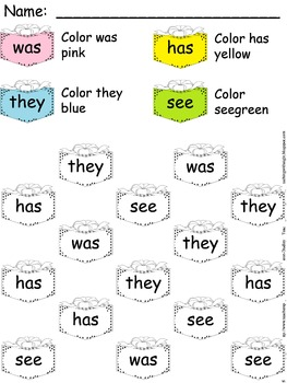 Christmas Sight Word & Number Coloring
