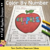 Color By Numbers Apple Themed Division Color By Code Worksheets