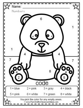 Color By Numbers Awesome Panda Know Your Numbers Dollar Deal