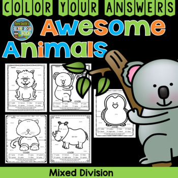 Color By Numbers Awesome Animals Mixed Division