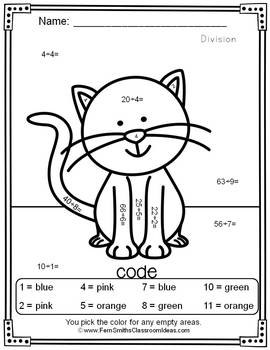 Color By Numbers Awesome Cat Mixed Division Dollar Deal