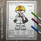 Color By Number Divide by 3 and 6 Careers - Community Helpers