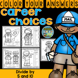 Color By Numbers Careers: Divide by 5 and 10