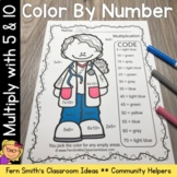Color By Numbers Careers: Multiply by 5 and 10