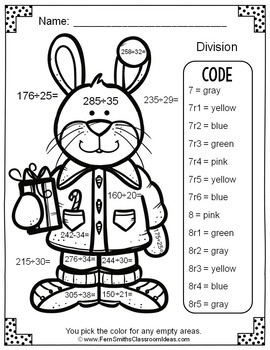 Color By Numbers Christmas Critters Advance Multiplication and Division Bundle