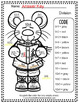 Color By Numbers Christmas Critters Advance Multiplication