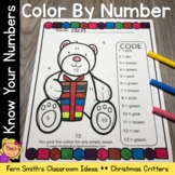 Color By Numbers Christmas Critters Know Your Numbers