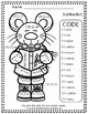 Color By Numbers Christmas Critters Two Digit by Two Digit
