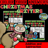 Christmas Color By Number 2-Digit by 2-Digit Addition and Subtraction Bundle