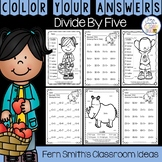 3rd Grade Go Math Chapter Seven 7.3 Color By Numbers Divide By Five