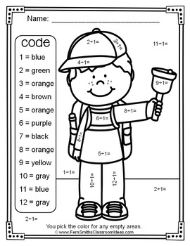 3rd Grade Go Math Chapter Six 6.9 Color By Numbers Divide By One