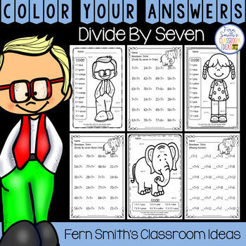 3rd Grade Go Math Chapter Seven 7.7 Color By Numbers Divide By Seven