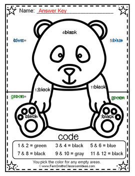 3rd Grade Go Math Chapter Seven 7.2 Color By Numbers Divide By Seven