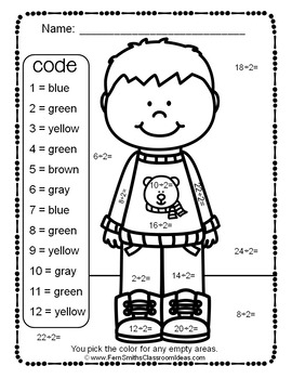 3rd Grade Go Math Chapter Seven 7.1 Color By Numbers Divide By Two
