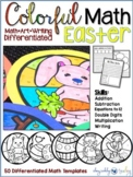 Color By Numbers EASTER Math