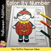 Color By Numbers Halloween Costumed Kids Addition