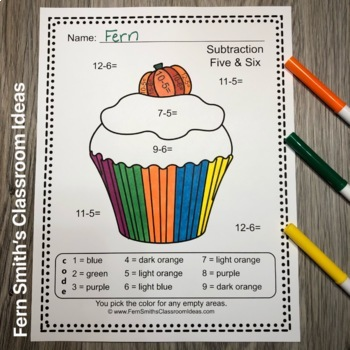 Color By Numbers Halloween Fun Addition and Subtraction Bundle