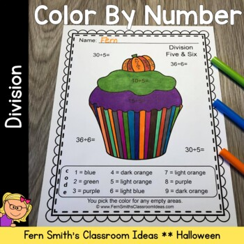 Color By Numbers Halloween Fun Division