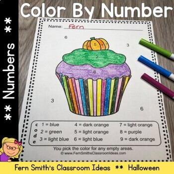 Color By Numbers Halloween Fun Know Your Numbers