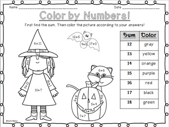 Color By Numbers: Halloween themed!