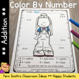 Color By Numbers Happy Students Addition Color By Code Worksheets