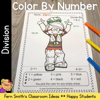 Color By Numbers Happy Students Division
