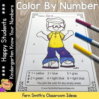 Color By Numbers Happy Students Know Your Numbers