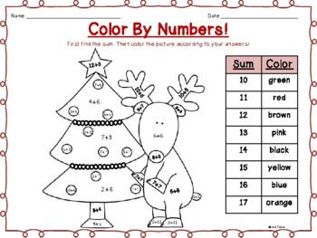 Color By Numbers: Holiday themed!