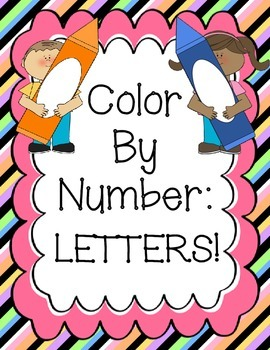 Color By Number: Letters!
