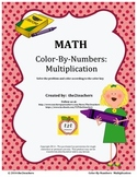 Color-By-Numbers:  Multiplication Fact Review