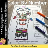 Color By Numbers Spring Time Know Your Numbers