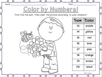 Color By Numbers: Spring themed!