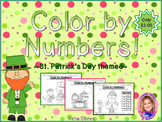 Color By Numbers: St. Patrick's Day themed!