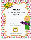 Color-By-Numbers:  Subtraction Fact Review