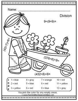 Color By Numbers Sunny Spring Two-Step Division