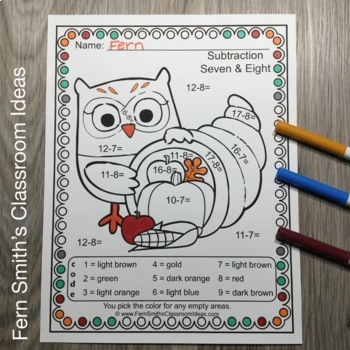 Color By Numbers Thanksgiving Fun Bundle