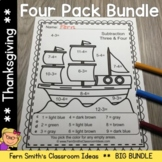 Thanksgiving Color By Numbers Thanksgiving Fun Bundle