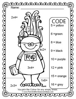 Color By Numbers Trolls Multiplication and Division