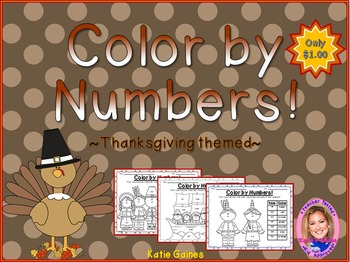 Color By Numbers: Thanksgiving themed!