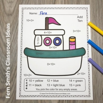 Color By Numbers Transportation Addition With Bonus Coloring Pages