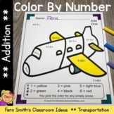Color By Numbers Transportation Addition With Bonus Colori