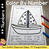 Color By Numbers Transportation Know Your Numbers With Bon