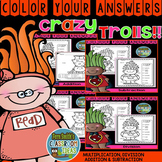 Color By Numbers Trolls Bundle