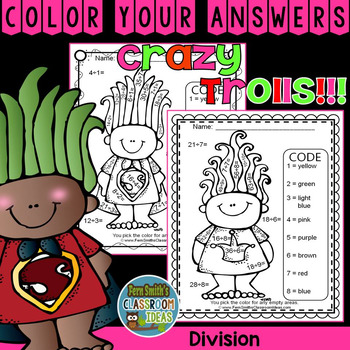 Color By Numbers Trolls Division