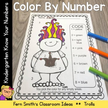 Color By Numbers Trolls Know Your Numbers
